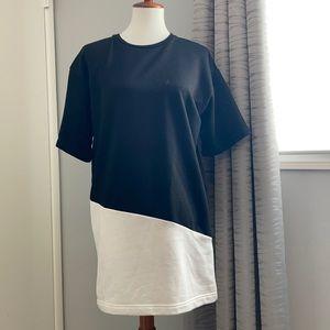 Black and white sweatshirt dress